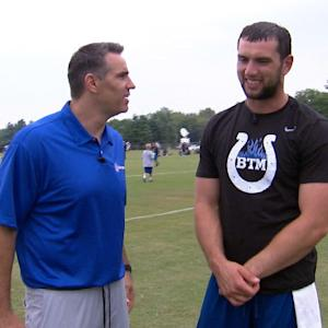 What is the next step for Indianapolis Colts quarterback Andrew Luck?