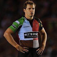 Nick Evans contributed 17 points for Harlequins
