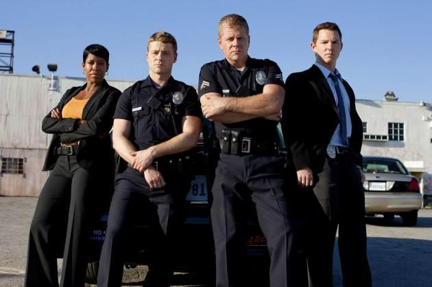 Regina King, Ben Mckenzie, Michael Cudlitz and Shawn Hatosy of 'Southland' -- TNT