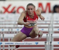 Australian Sally Pearson (pictured in June), who scorched to the fourth best time in history (12.28sec) when she won the 100m hurdles at the Daegu worlds, will be in action at the Diamond League meeting in Paris. But she faces competition from US-born Briton Tiffany Porter and American Kristi Castlin