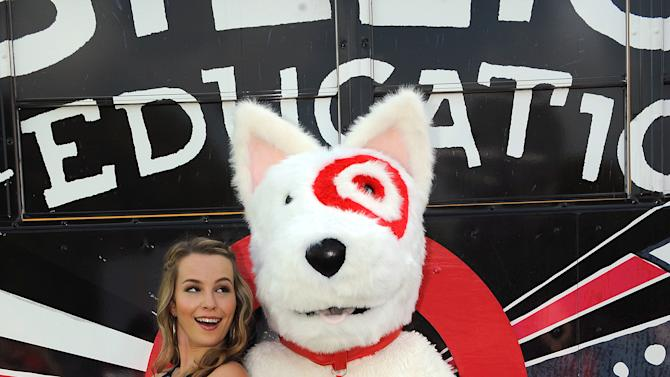 Bridgit Mendler appears  at the Phillis Wheatley Elementary School as part of the Give With Target campaign.Target and Bridgit kicked off the new school year by presenting the school with a $25,000 check, an additional $20,000 in school supplies, and a celebration on Thursday, Aug. 23, 2012 in Miami. (Photo by Jeff Daly/Invision for Target/AP Images)