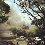 The blaze at Food Court 4. (Photo by ppputri (Instagram))