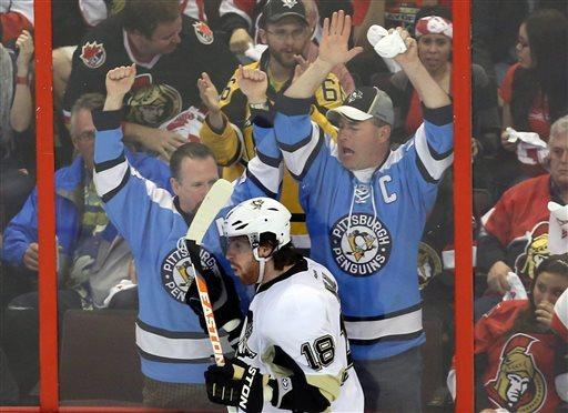 Penguins rout Senators 7-3, take 3-1 series lead