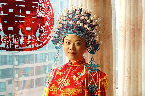 Chinese Bride in Phoenix Headdress