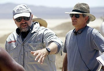 Director Andrew Davis and writer Louis Sachar in Disney's Holes