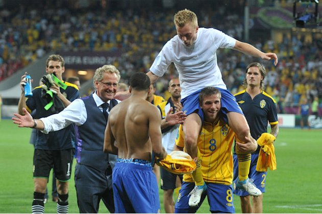 Swedish Headcoach Erik Hamren And Players AFP/Getty Images