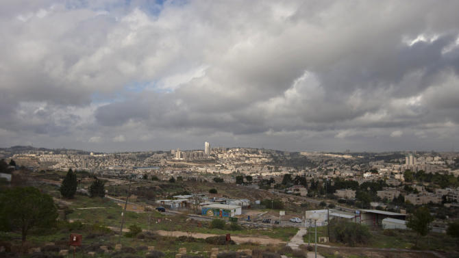 FILE - In this Wednesday, Dec. 5, 2012 file photo a general view of Givat Hamatos area is seen in east Jerusalem, Israel on Wednesday, Dec. 19, 2012 pressed forward with the construction of thousands of new homes in the West Bank and east Jerusalem, part of a series of new settlement plans that have drawn worldwide rebuke, including from its closest ally, the United States. (AP Photo/Sebastian Scheiner, File)