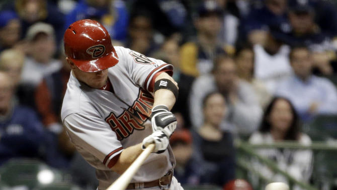 Hill homers to give D-backs 7-5 win over Brewers