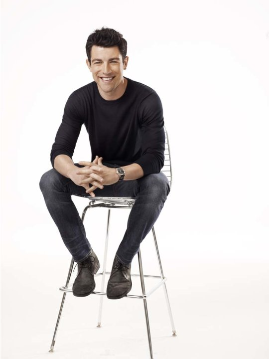 "Max Greenfield as Schmidt in ""New Girl."""