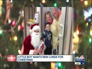 Boy, 8, with cystic fibrosis, asks Santa for new lungs for Christmas