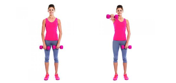 Alternate Front Dumbell Raise