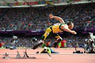 South African Oscar Pistorius, pictured at the Olympic Games on August 4, 2012, beat Arab horse Maserati in the &#39;run like the wind&#39; race on Wednesday