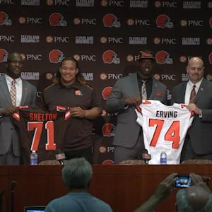 Best of Cleveland Browns defensive lineman Danny Shelton and offensive lineman Cameron Erving press conference