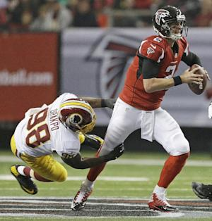 Falcons' Ryan plagued by interceptions on the road