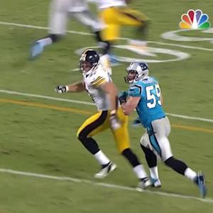 Pittsburgh Steelers tight end Heath Miller 30-yard reception