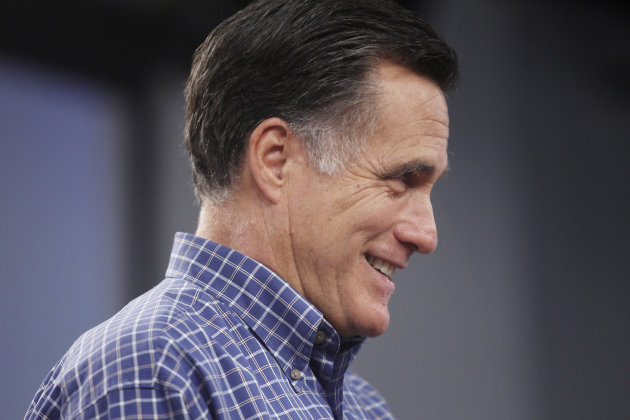 Republican presidential candidate, former Massachusetts Gov. Mitt Romney holds a town meeting at Saint Anselm College in Manchester, N.H., Wednesday, Sept. 28, 2011. (AP Photo/Cheryl Senter)