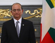 Myanmar President Thein Sein, seen here in April 2012, and the two house speakers must now choose new judges after the parliament ousted nine constitutional court judges in the culmination of a long-running standoff that observers say exposed growing political rivalry within the regime