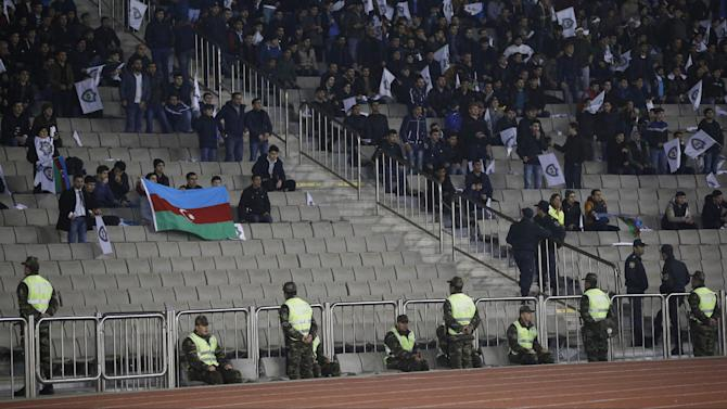 General view of security in the stadium