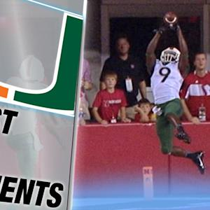 Miami WR Malcolm Lewis Gets Both Feet in on TD | ACC Must See Moment