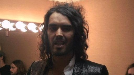Russell Brand Signs Jimmy's Guest Book