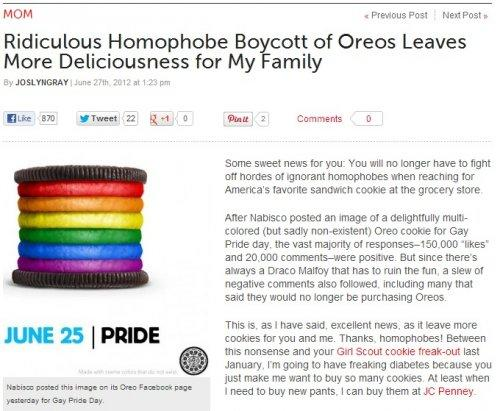 June: Homophobes Boycott Oreos, Forget to Boycott a Bunch of Other Stuff