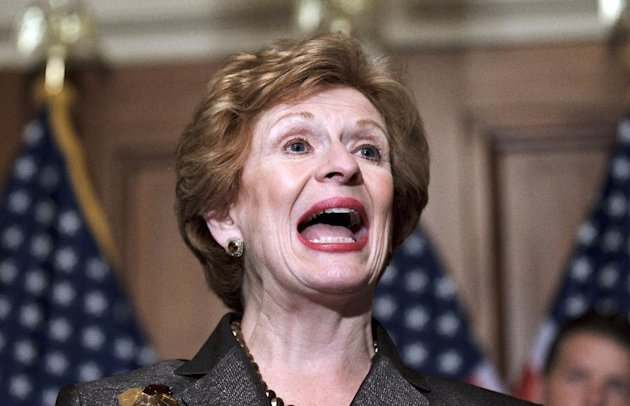 FILE - In this June 6, 2012, file photo, Sen. Debbie Stabenow, D-Mich., speaks about a farm bill on Capitol Hill in Washington. Senate Agriculture Committee chairman Stabenow is fond of saying that the five-year farm policy bill is &quot;not your father&#39;s farm bill.&quot; There&#39;s some truth to that: while the core missions of farm bills _ protecting farmers from bad times, conserving rural lands and funding the food stamp and other nutrition programs _ are unchanged, this farm bill takes some very different approaches. (AP Photo/J. Scott Applewhite, File)