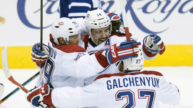 Plekanec lifts Canadiens past Maple Leafs, 4-3