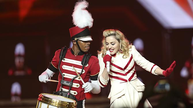 Madonna Performs At The Staples Center