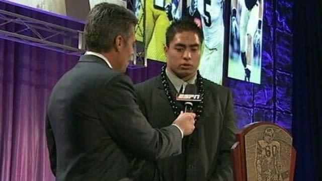 Manti Te'o ESPN Interview on Alleged Girlfriend Hoax