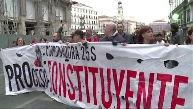 Protestas en Espaa