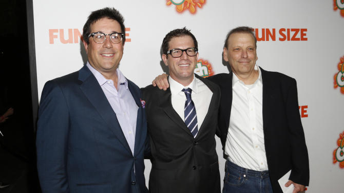 """Producer David Kanter, Executive Producer Paul Green and Producer Bard Dorros attend the """"Fun Size"""" Los Angeles Premiere at Paramount Studios on Thursday,  October 25, 2012 in Los Angeles, California.  (Photo by Todd Williamson/Invision/AP Images)"""