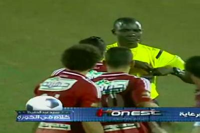 Ref gives death stare and reaches for red card, ends player mob