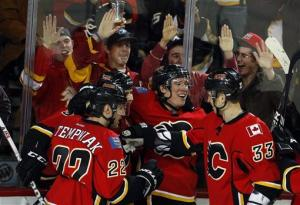Flames blank Ducks in OT
