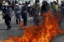 Photos: Greek general strike turns violent