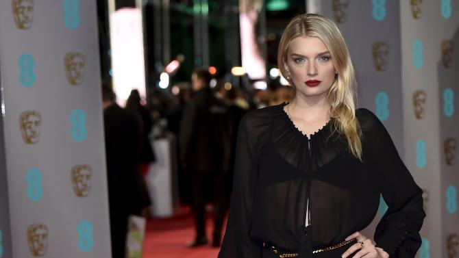Lily Donaldson arrives at the British Academy of Film and Television Arts (BAFTA) Awards at the Royal Opera House in London