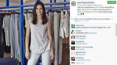 Where Kendall Jenner Sports Nostalgic Athleisurewear in West Hollywood