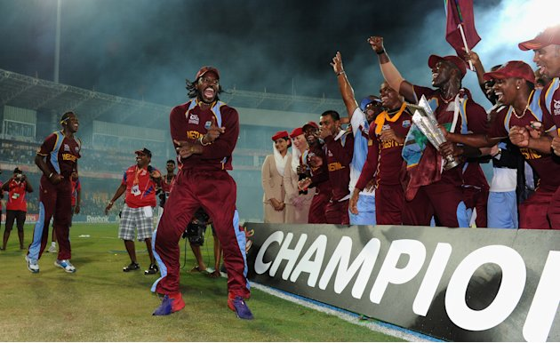 -	Cricket: The West Indies winning the T20 Cricket World Cup.