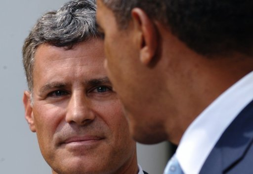 Alan Krueger, chairman of the Council of Economic Advisors, pictured with President Barack Obama in 2011