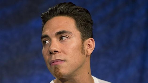 Olympic speed skater Apolo Ohno is seen in New York April 24, 2013. American Apolo Anton Ohno has confirmed he will not compete at next year's Sochi Winter Olympics and has effectively retired from short-track speed skating. (Reuters)