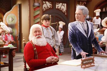 Tim Allen , Spencer Breslin and Martin Short in Disney's The Santa Clause 3: The Escape Clause