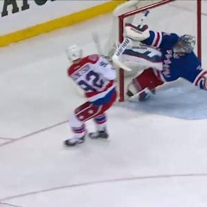 Lundqvist makes a kick save and a beauty