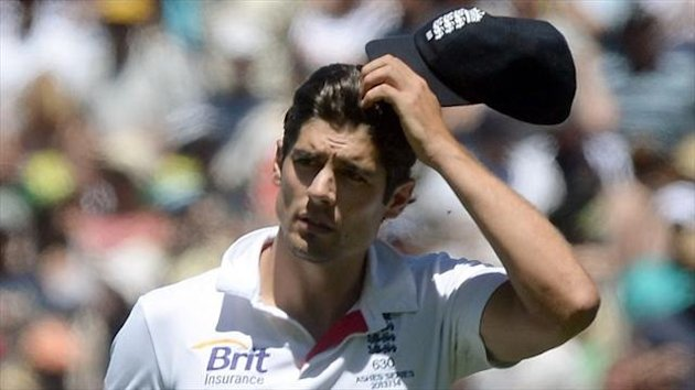 Alastair Cook faced some blunt questions on his future after England's eight-wicket defeat at the MCG