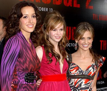 Jennifer Beals , Amber Tamblyn and Sarah Michelle Gellar at the premiere of Columbia Pictures' The Grudge 2