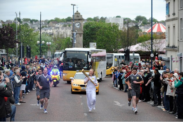 The Olympic Flame Continues Its Journey Around The UK - Day 16