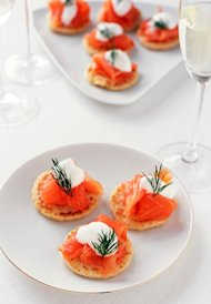 smoked salmon canape