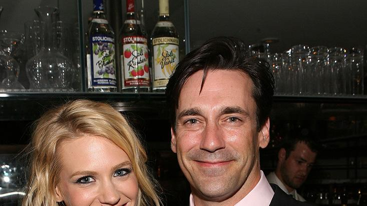 January Jones Jon Hamm 2009