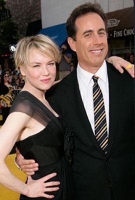 Renee Zellweger and Jerry Seinfeld at the Los Angeles premiere of DreamWorks Pictures' Bee Movie