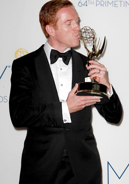 Emmys 2012: Hot ginger Damian Lewis looked rather dishy in this black tie number.