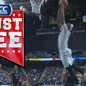 Irish's Lindsay Allen Throws Up Awesome Alley-Oop to Jewell Loyd | ACC Must See Moment