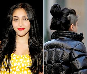 PIC: Madonna's Daughter Lourdes Leon, 15, Shaves the Side of Her Head
